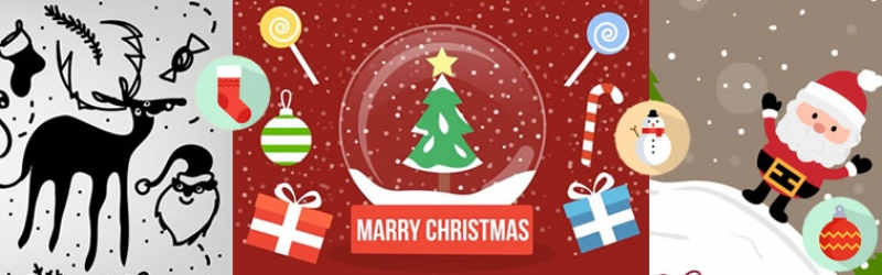 Free Christmas Vectors For Your Festive Designs